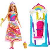 Lalka Barbie Huśtawka Księżniczki Kraina Słodkości Dreamtopia Mattel FJD06