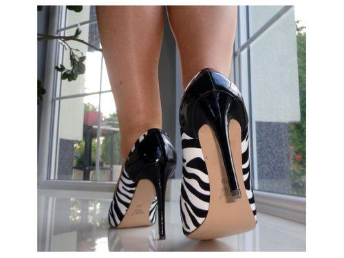 Zebry zebreki zebra buty szpilki lakierki 36 na Arena.pl