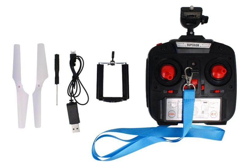 Dron TD08 II Generacji z Kamerą WiFi Podgląd na żywo 2x AKU Biały Z312 zdjęcie 10