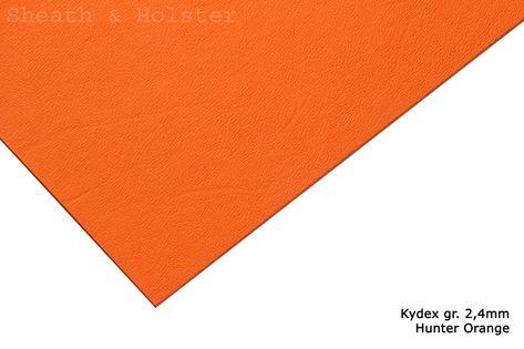 Kydex Hunter Orange - 200x300mm gr. 2,4mm
