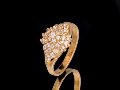 P488 Złoty pierścionek z cyrkoniami 585 /Jubi