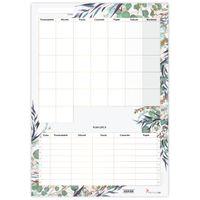 Planer Miesięczny Suchościeralny Floral Z Planem Lekcji