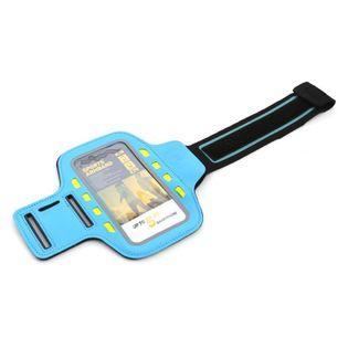Opaska na ramię na smartfona z diodami LED NIEBIESKA
