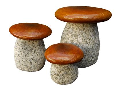 Granitowe grzyby zestaw 3 sztuki