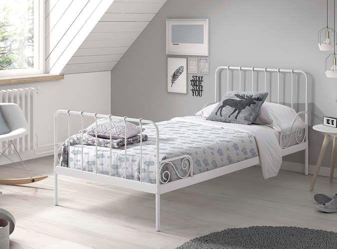 Metalowe łóżko Dla Dziecka Alice Old White
