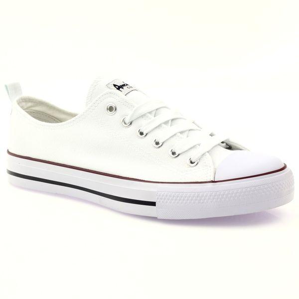 25996bafbbad2 ... Trampki buty męskie białe wiązane American r.42 zdjęcie 2 ...