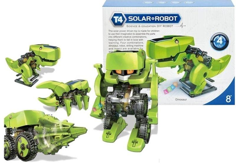 Robot Dinozaur SOLARNY Kreatywna Zabawaka 4w1 zdjęcie 1