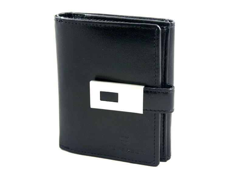 eca4cbf694aa2 Mały portfel damski z metalową zapinką