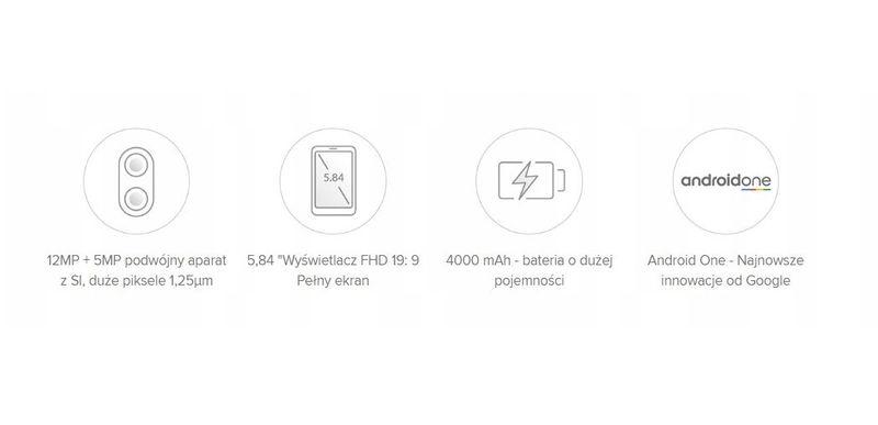 Xiaomi Mi A2 Lite 3/32 GB Złoty EU LTE Dual Sim zdjęcie 3