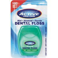Active Oral Care Dental Floss Nić Dentystyczna Woskowana Z Fluorem Mint 100 Metrów