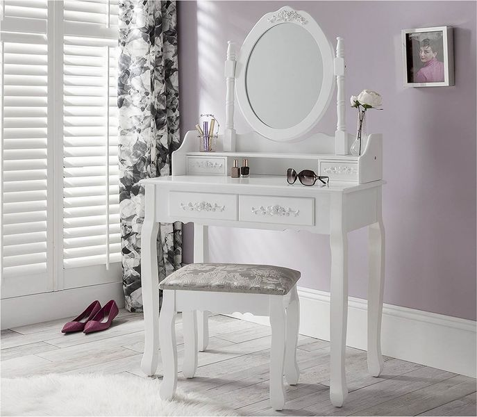 Toaletka Kosmetyczna Duże Lustro + Hoker 001 zdjęcie 2