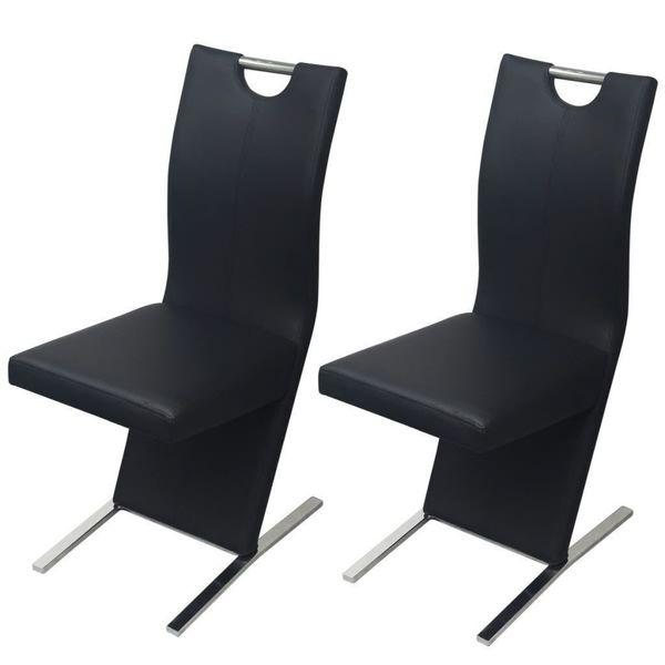 Krzesło Do Jadalni Krzesła Jadalniane Skórzane 2 Sztuki