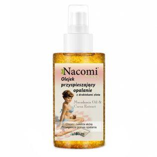 Olejek przyśpieszający opalanie z drobinkami złota - 150ml - Nacomi