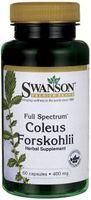 Forskolina pokrzywa indyjska 400mg Coleus Forskohli 60 kapsułek SWANSON