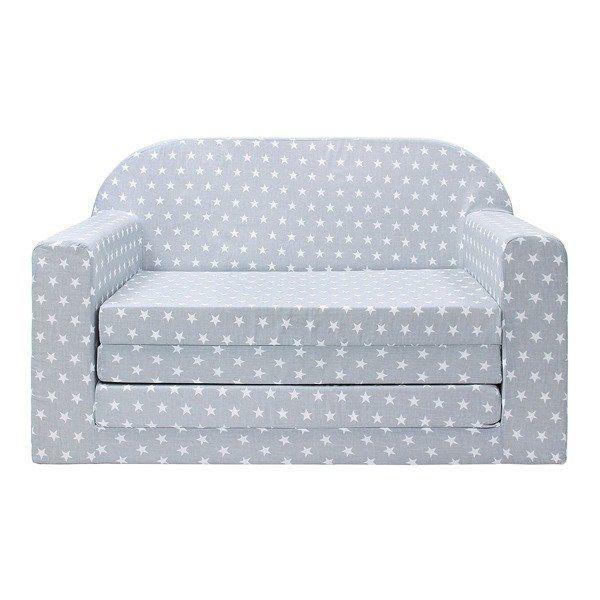 Sofa Fotel Rozkładany łóżko Dla Dziecka Siwy Białe Gwiazdki