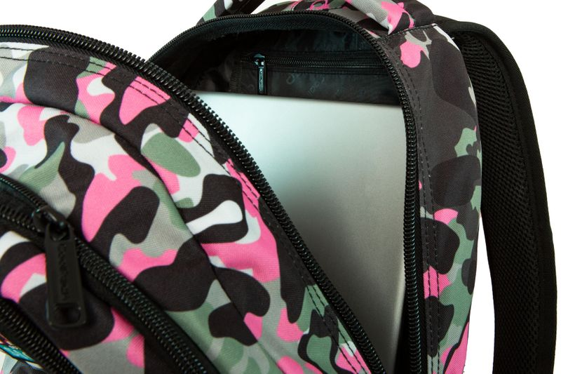 Plecak szkolny CoolPack Dart XL 27 L, Camo Pink Badges A29112 zdjęcie 6