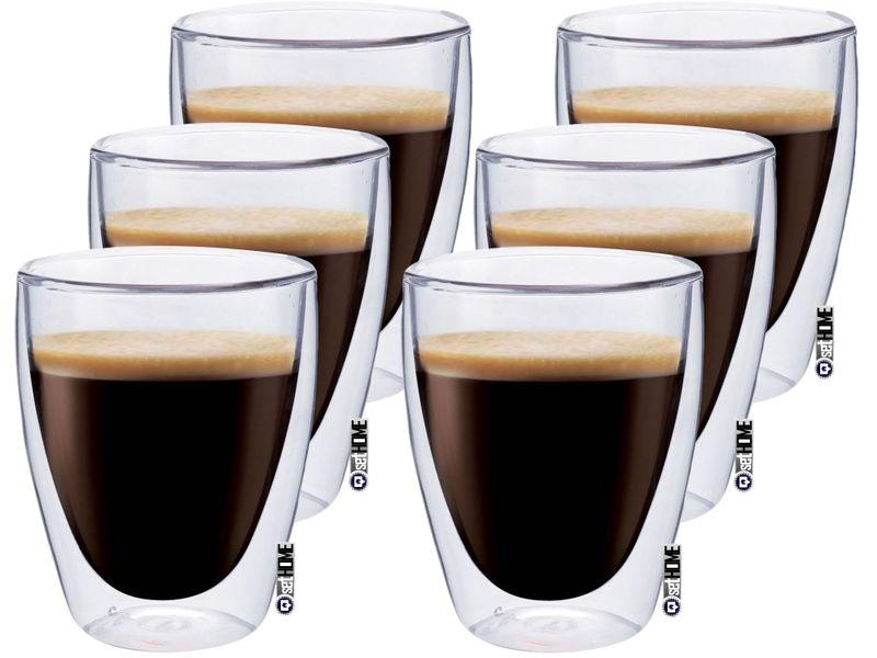 Szklanki Termiczne do Kawy Coffee Herbaty 235ml 6 sztuk zdjęcie 1