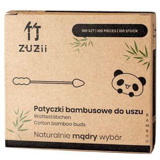 Bambusowe Patyczki Kosmetyczne Z Bawełną, Szpic Zuzii, 100 Szt