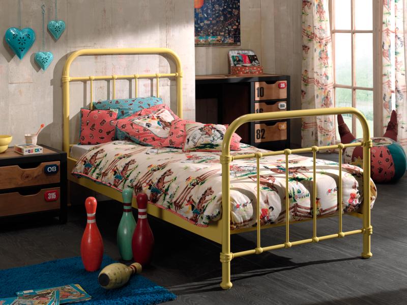 Metalowe łóżko Dla Dziecka New York Słoneczna żółć