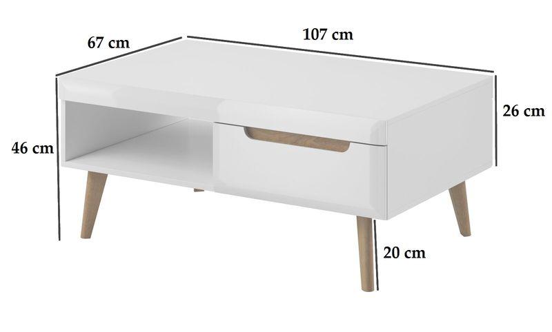 Ława stolik kawowy na nóżkach STYL SKANDYNAWSKI  NARWI NL107 zdjęcie 2