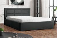 Łóżko tapicerowane  200x200 stelaż POJEMNIK ogranicznik zagłówek PAMA