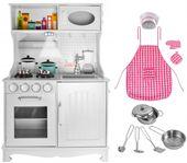 Kuchnia Drewniana Dla Dziecki Kuchenka Dźwieki Światło Akcesoria Z371 zdjęcie 13