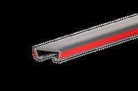 Listwa poręczowa PCV LUX, poręczówka 40x8mm ciemnoszary/czerwony 1 mb