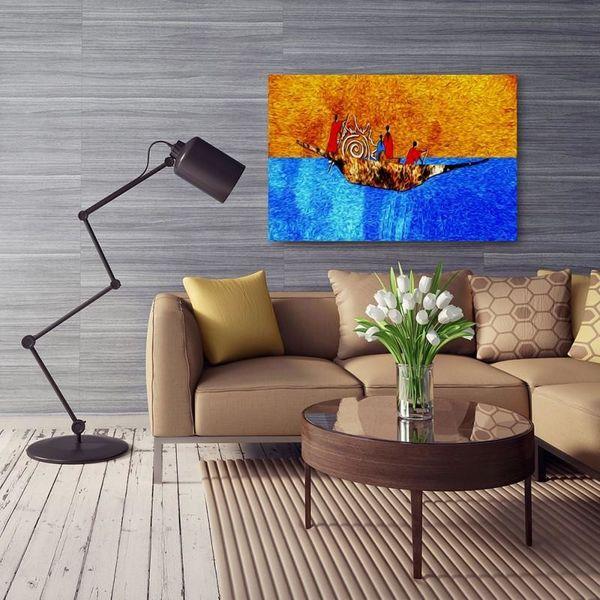 Obraz na płótnie - Canvas, Na łodzi 120x80 zdjęcie 4