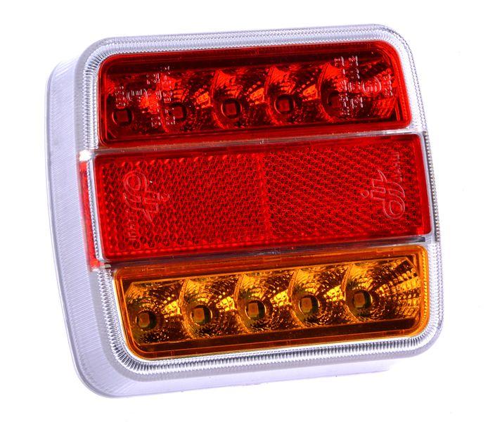Lampa led zespolona diodowa tylna przyczepki 12V zdjęcie 1