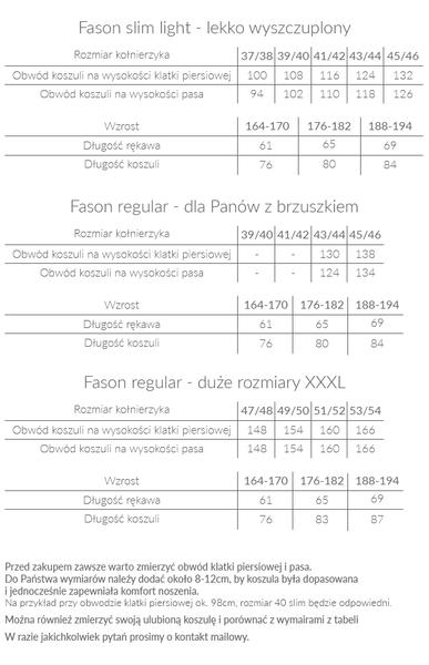 Biała koszula - granatowe koniczynki A10 KRÓTKI RĘKAW Rozmiar koszuli i fason - Wybierz rozmiar zdjęcie 3