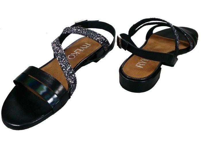 6f97082a645a6 Sandały RYŁKO 1IH74 czarny Rozmiar obuwia - 36, Kolor - Czarny zdjęcie 3