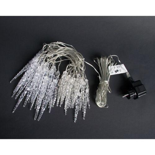 Lampki ogrodowe w kształcie sopli 40 LED, zimne białe wew./zew. zdjęcie 2