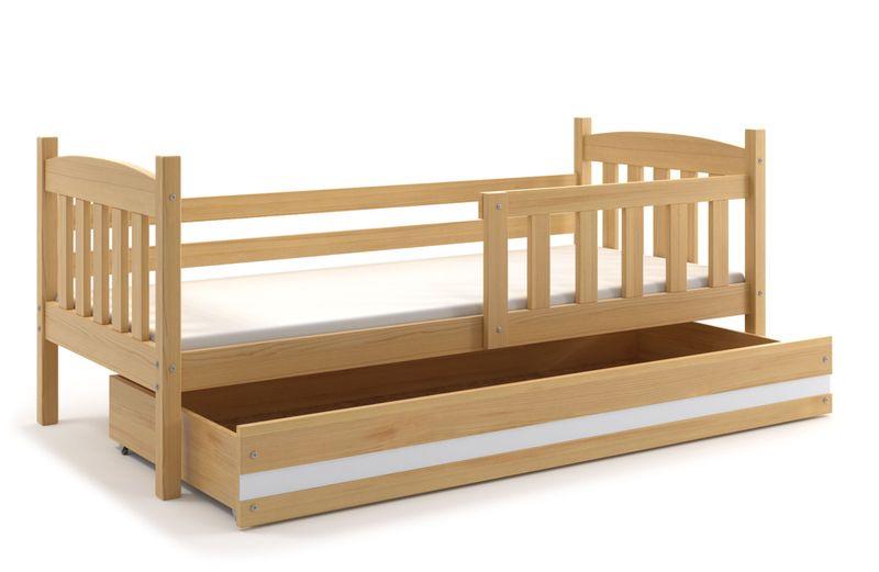 łóżko łóżka Dla Dzieci Kubuś Parterowe 200x90 Barierka Szuflada