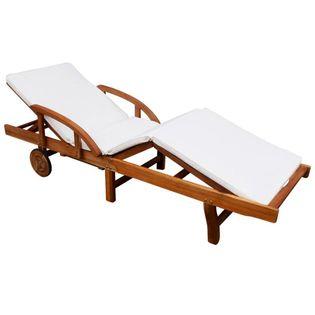 Leżak Z Poduszką, Lite Drewno Akacjowe