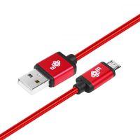 TB Kabel USB-Micro USB 1.5 m czerwony sznurek