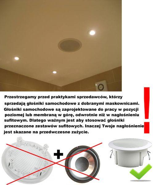 4 GŁOŚNIKI SUFITOWE + WZMACNIACZ USB SD FM ZESTAW na Arena.pl