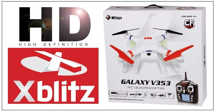 DRON Galaxy V353 2,4Ghz, 40cm z kamerą HD na Arena.pl