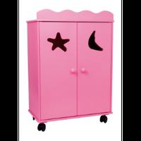 Szafka na ciuchy dla lalek - Pink
