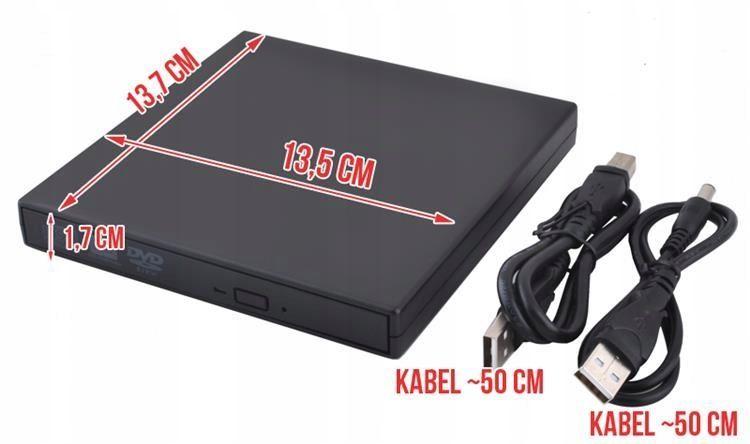 Napęd zewnętrzny CD/DVD Nagrywarka COMBO SLIM USB zdjęcie 6