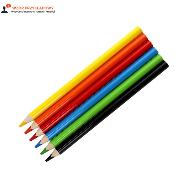Kredki ołówkowe 6 kolorów trójkątne Jumbo Astra/Astrino 312115003 zdjęcie 2