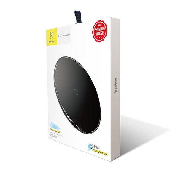 Baseus Simple - Bezprzewodowa ładowarka indukcyjna Qi do iPhone i Android 10W (czarny) zdjęcie 2