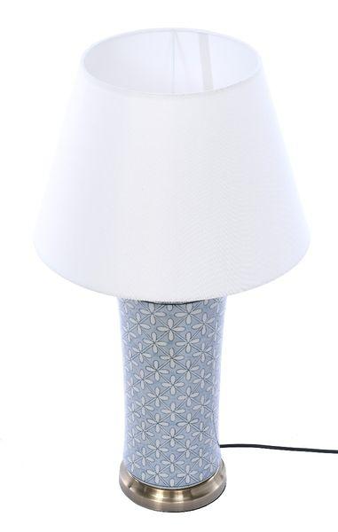 Lampa stołowa z abażurem Anabel 18x18x51cm zdjęcie 3