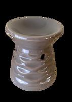 Kominek zapachowy - podgrzewacz do olejków KLASYCZNY (kolor: szary ciemny)