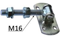 Zawias regulowany M16 z płytką - do furtki bramy