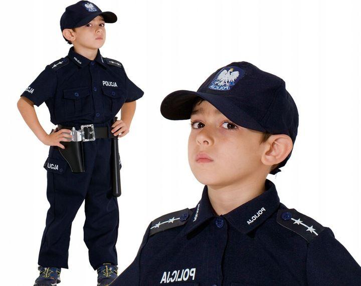 POLICJANT Polski Strój KARNAWAŁOWY 128 Kostium BAL zdjęcie 1