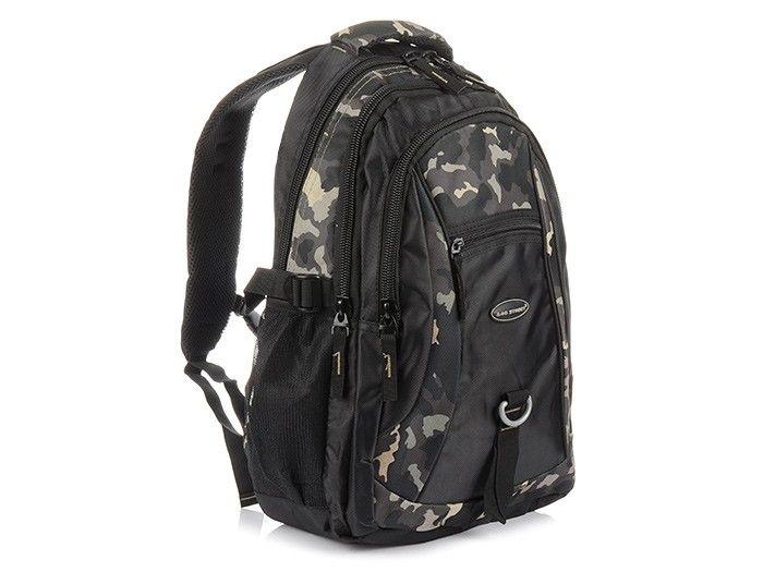 e8fb7e7eddff7 MORO-CZARNY Solidny 3KOMOROWY plecak miejski SPORTOWY duży M83 zdjęcie 1