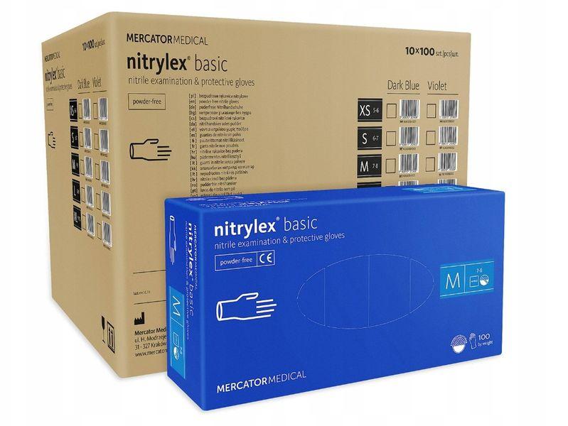 Rękawice nitrylowe nitrylex basic M  karton 10 x 100 szt na Arena.pl