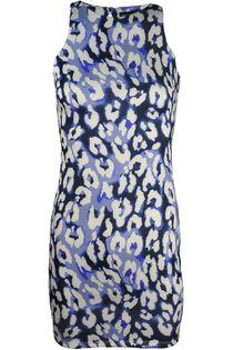 Niebieska sukienka, centki - 34 / XS