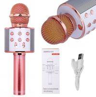 Mikrofon bezprzewodowy Bluetooth Głośnik Karaoke RÓŻOWY G242R