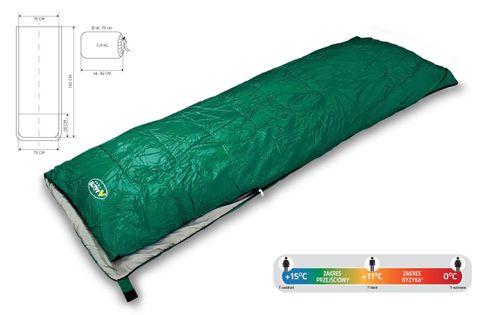 Śpiwór turystyczny Active Allto Camp zielony